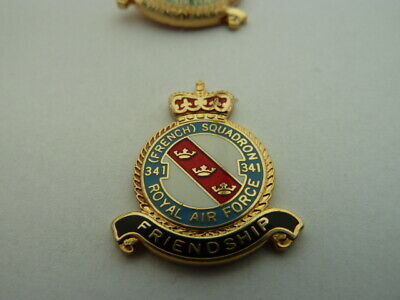 Pin's  Royal Air Force /  French Squadron     /  Rare  / Superbe