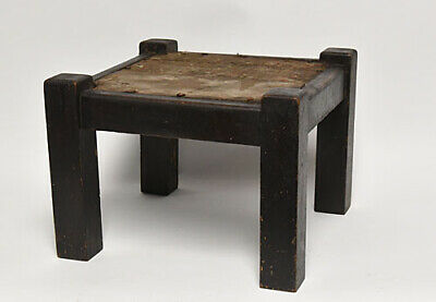 Vintage Primitive Arts And Craft Mission Style Stool