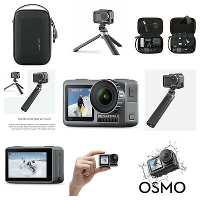 DJI Osmo Action Camera Travel Kit With Handheld Pole Tripod Water Resistant Case