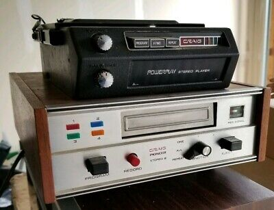 Two (2) Vintage Craig Pioneer 8 Track Players/Recorders Models 3138 & Rare 3302