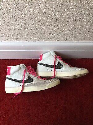 Pink Sneakers '77 10 Nike Mid High White Blazer Leather Premium Uk drBoEQCexW