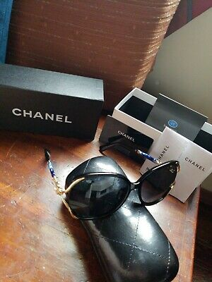 36269c64a4 WOMEN SUNGLASSES AUTHENTIC Chanel CH 5339H C501S8 black original New ...