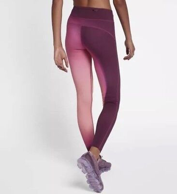 cb6a4a8a12720d Nike Power Epic Lux Womens Tights Running Gym Pink Ombre Printed Size S BNWT
