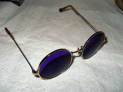 Vintage 1980'S Lennon Imagine/Hippie/Camel/Only Pair On Ebay/Round/Purple/Metal/