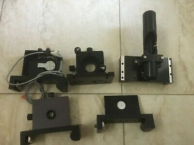 Lot of 5 Laser Alignment Tools Lab Mounts Gimbal Shutter Pinhole Alignment
