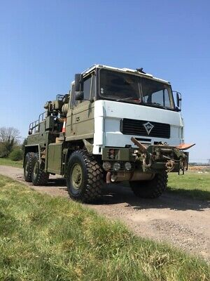 Foden 6x6 Off Road Recovery Truck Heavy Wrecker Slewing Crane Winch Truck