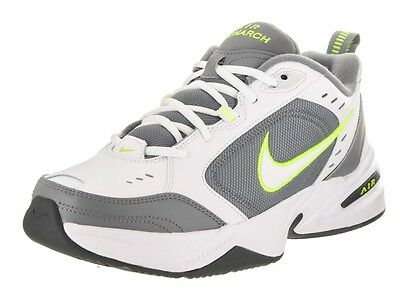 online store a4ba4 ac191 Nike AIR MONARCH IV Mens White Grey Volt 100 Lace Up Running Training Shoes