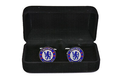 Official Chelsea Football Cufflinks For Men Silver Wedding Black Tie Shirt
