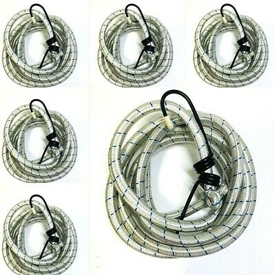 """3,6 or 9 pc Bungee Cord 75"""" inch Heavy Duty Straps 2 Hooks Tie Down"""