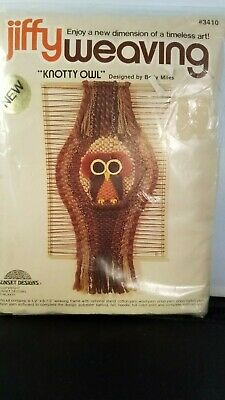 "Jiffy Weaving Kit ""Knotty Owl"" Sealed NIP"