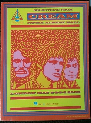 Cream Royal Albert Hall 2005 Sheet Music Book Guitar Tab Eric Clapton Leonard