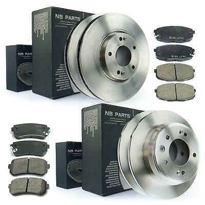 FRONT AND REAR BRAKE DISCS AND PADS FOR HYUNDAI I30 ESTATE 1.6 CRDI 2//2008