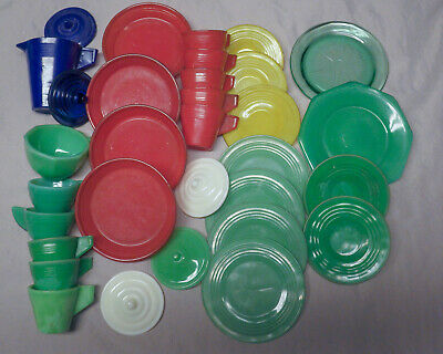 BB Marbles: J Pressman. 32 Pieces of Children's Play Sets. Mostly Mint.  (M328)