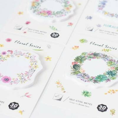 Floral Memo Pad Sticky Notes Notepad Bookmark Office School Supply Paper Sticker
