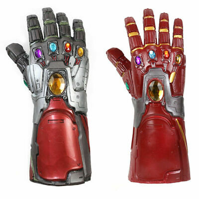 Avengers 4 Endgame Iron Man Infinity Gauntlet Cosplay Prop Tony Stark Gloves Red