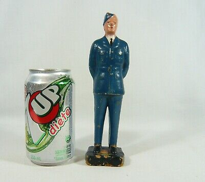 Vintage Wooden Pilot Figurine 7 3/4 in Airline / Canadian Military Air Force??