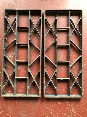 Antique Cast Iron Window Grate Heavy Duty 1930s Architectural Salvage