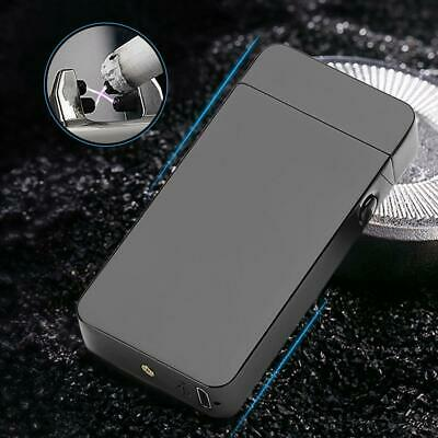 Electric Arc Metal Flameless Torch Cigarette Windproof USB Recharge Lighter Gift