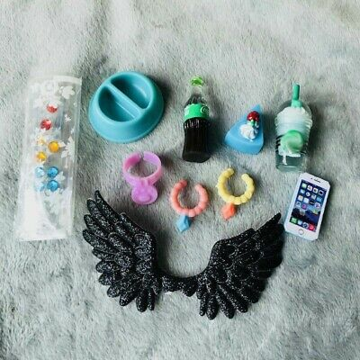 LPS Accessories Lot Collars Cake Wings Drink Phone Earring 10pcs For LPS Dog/Cat
