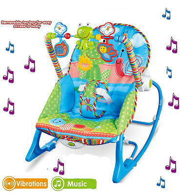 Baby Rocking Chair Rocker Bouncer Reclining Chair Soothing Music Vibration