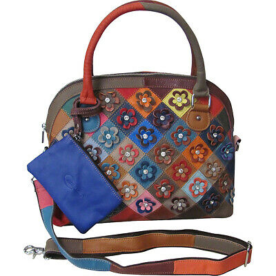 AmeriLeather Kenzer Leather Satchel 2 Colors