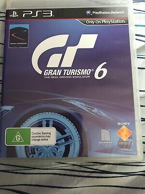 Gran Turismo 6 PS3 Sony Playstation 3 GT6 with Manual VGC