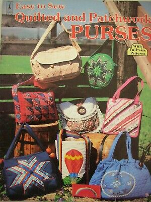 Craft Course Booklet - QUILTED AND PATCHWORK PURSES - Full-size Patterns - VGC