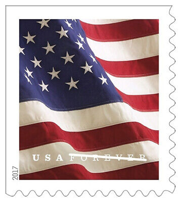 20 USPS Forever Stamps, 2017 U.S. Flag Design, Cheap Postage, NEW