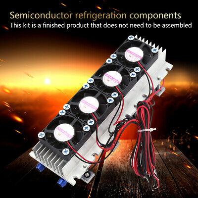 12V 4-Chip DIY Thermoelectric Cooler Refrigeration Air Cooling Device TEC1-1270