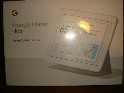 Google Home Hub with Google Assistant- Chalk- Brand New & Sealed!