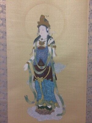 JAPANESE PAINTING HANGING SCROLL JAPAN Buddhism ANTIQUE VINTAGE PICTURE 190n