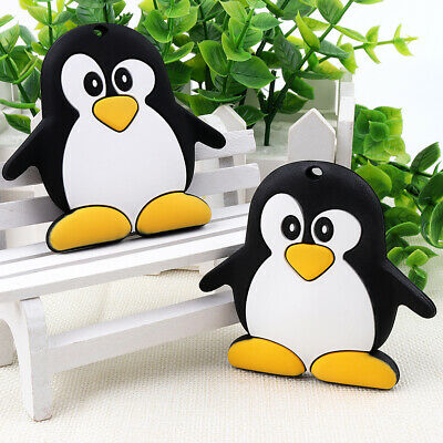 Penguin Infant Baby Teether Silicone Soother Chewable Teething Toy BPA-free 1PC