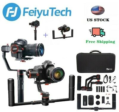 FeiYu A2000KIT 3-Axis Gimbal Stabilizer for DSLR Mirrorless Camera 5.5lbsPAYLOAD