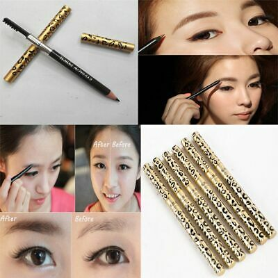 Waterproof Long Lasting Stylist Eyebrow Pencil Double-Headed with Brush Comb