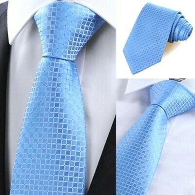 Silk Tie for Men Necktie Jacquard Plaids Checks Striped Classic Ties Set Wedding