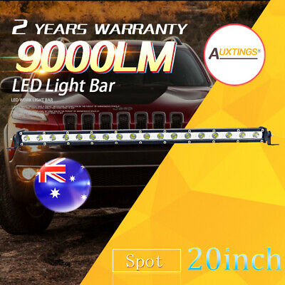 "20"" inch 90W Spot LED Light Bar CREE Super Slim Offroad Work Lamp single row AU"