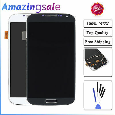 For Samsung Galaxy S4 i337 M919 LCD Display Touch Screen Digitizer Frame  US
