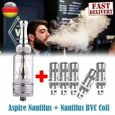 2019 Aspire Nautilus Tank 5ml Verdampfer Clearomizer + 5x BVC 1.8ohm Coils