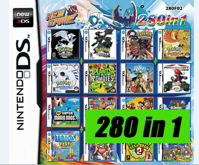 NINTENDO Game 280 in1 combination cartridge 2DS DSLITE /NDSi/3DS/XL/3DSLL/NDSILL