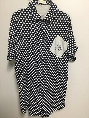 Peter Alexander - Ladies Spotty Nightie - Button Up -  Size M - Great Cond