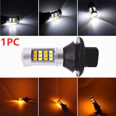 1Pc Switchback Dual Color White + Amber 3157 2835 42SMD Turn Signal LED Bulbs