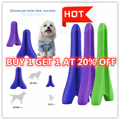 Pet Dog Silicone Toothbrush Clean Teeth Mouth Pet Puppy Dental Oral Hygiene Care