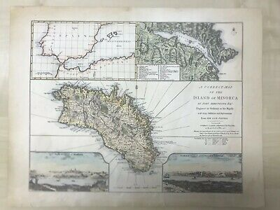 Georgian Map Island of Minorca John Armstrong Published by Laurie & Whittle 1794