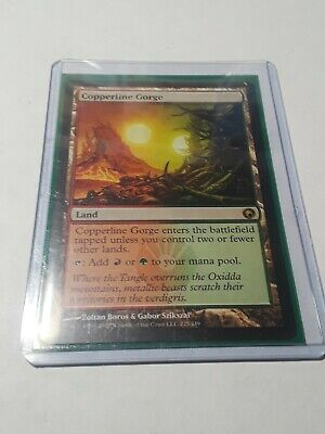 MTG SCARS OF MIRRODIN CHINESE COPPERLINE GORGE X1 NM CARD