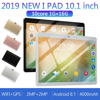 10.1 Inch Google Gaming Tablet PC Android 8.1 Quad Core Dual Camera Wifi 1+16GB