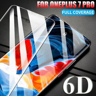 6D Curved Full Cover Tempered Glass Film Protector for One Plus 7 7 Pro Screen