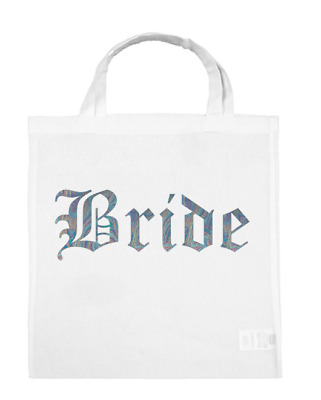 Team BRIDE Tote Wedding Bags Tribe Squad Hen Party Night Gift Bag Silver Blue