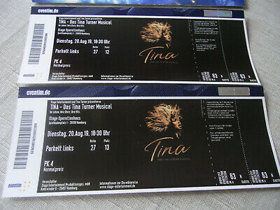 Tina Turner Musical 2 Tickets (Dienstag. 20.Aug.19. 18:30 Uhr