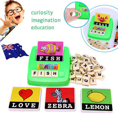 Literacy Scrabbler Early Education Puzzle Toys Xmas Gift - Free Shipping  GR
