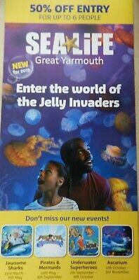 Sealife Centre Great Yarmouth 50% Off Entry Voucher up to 6 People Until 31.3.20
